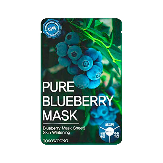 Tosowoong – Pure Blueberry Mask k beauty
