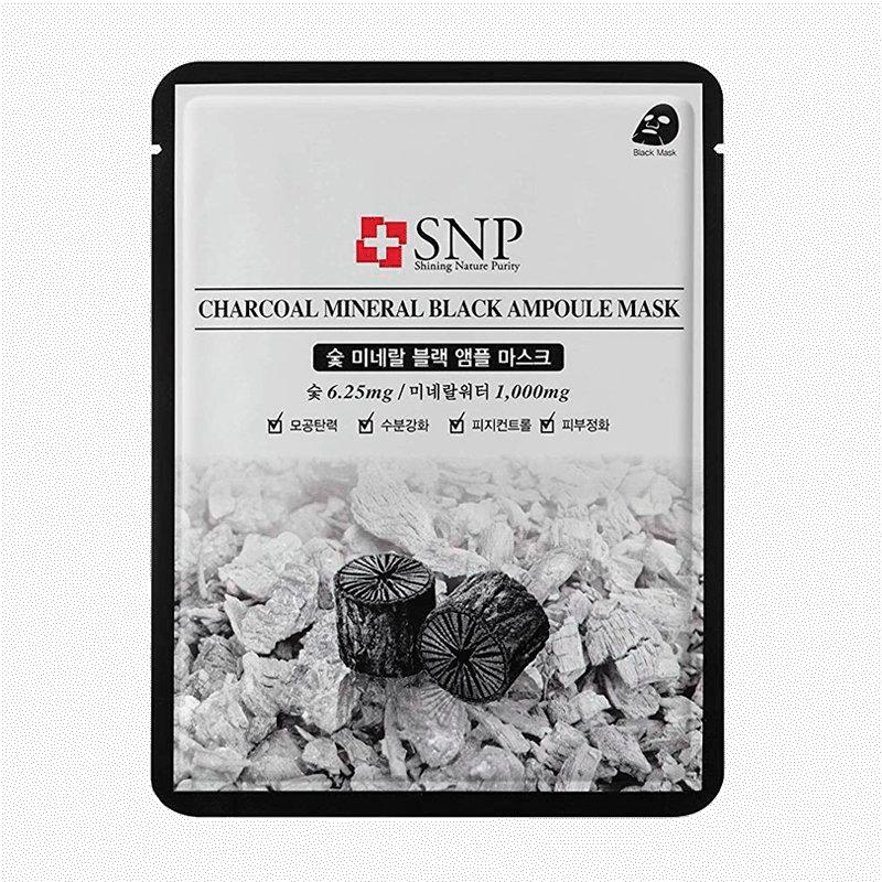 SNP - Charcoal Mineral Black Ampoule Mask 1
