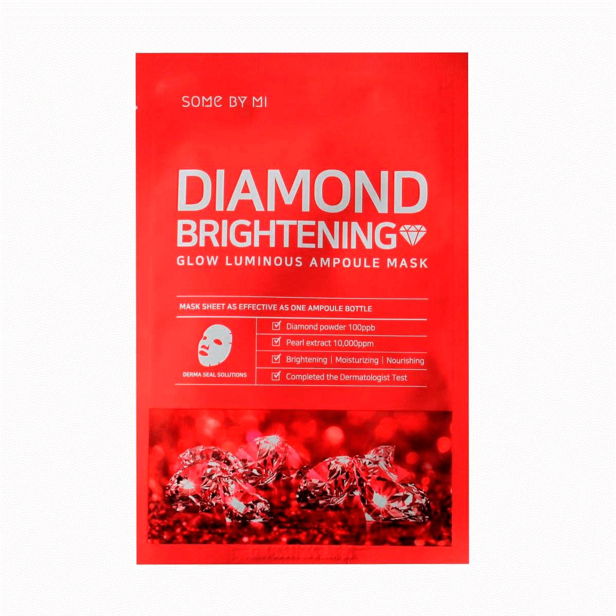 Some By Mi - Diamond Brightening Calming Glow Luminous Ampoule Mask 1