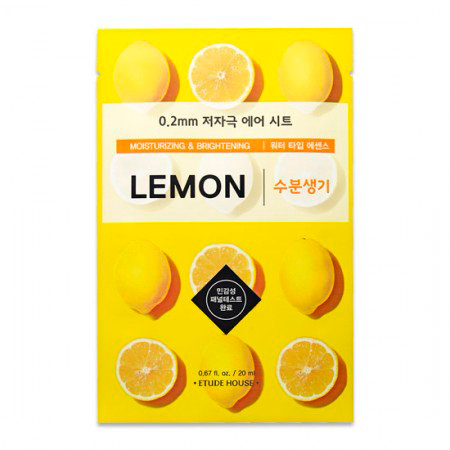 Etude House - 0.2 Therapy Air Mask Lemon 1