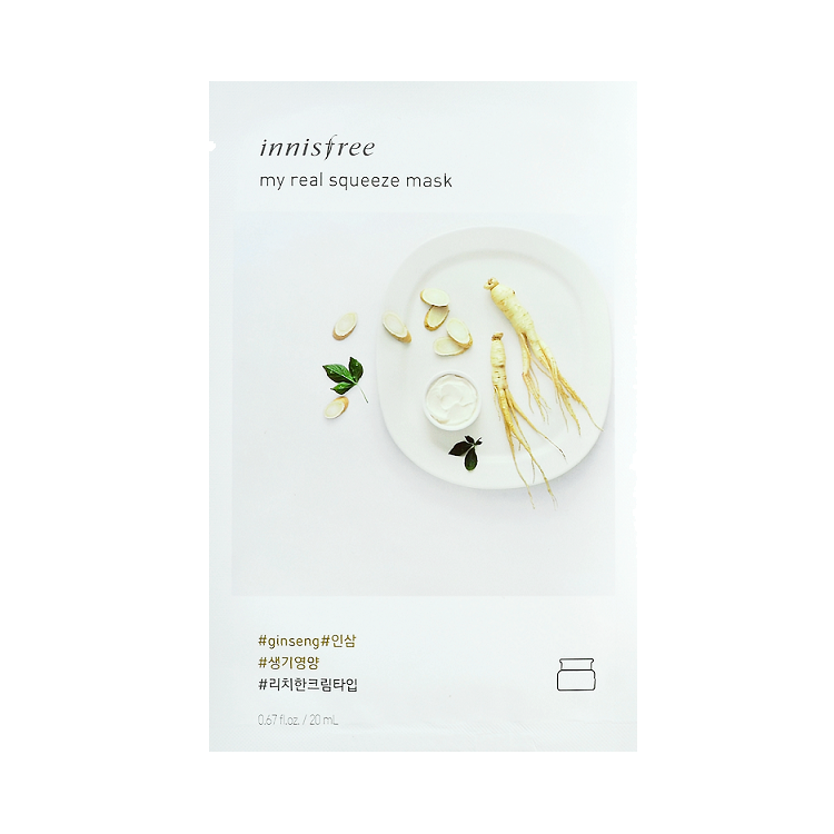 Innisfree - My Real Squeeze Mask Ginseng 1