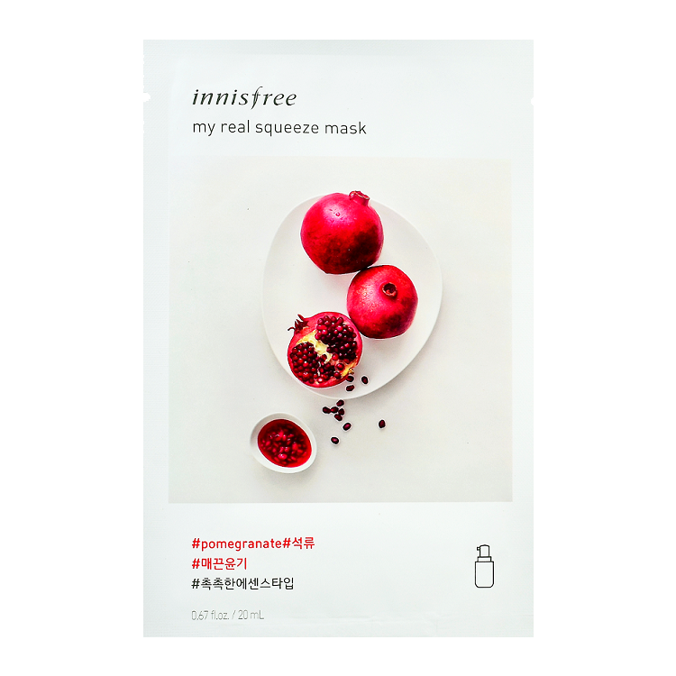 Innisfree - My Real Squeeze Mask Pomegranate 1