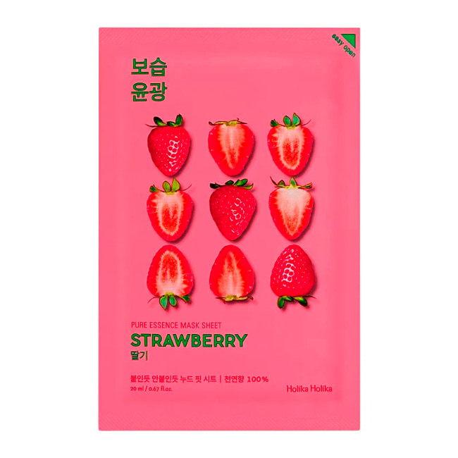 Holika Holika - Pure Essence Mask Sheet Strawberry 1