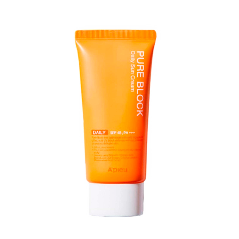 A'Pieu - Pure Block Natural Daily Sun Cream SPF45 PA+++ 1