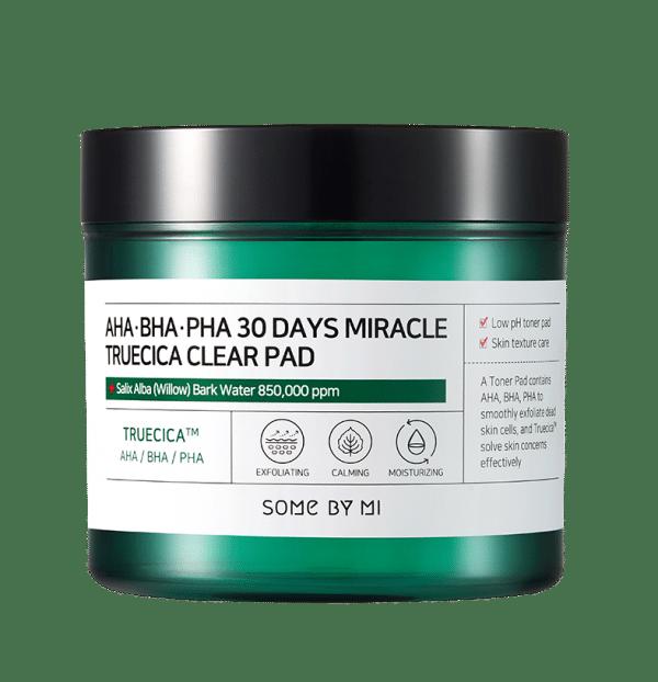 Some By Mi – AHA BHA PHA 30 Days Miracle Truecica Clear Pad k beauty