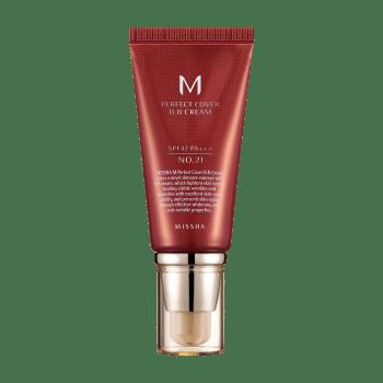 MISSHA – Perfect Cover BB Cream SPF42/Pa+++ (No. 21/Light Beige) k beauty