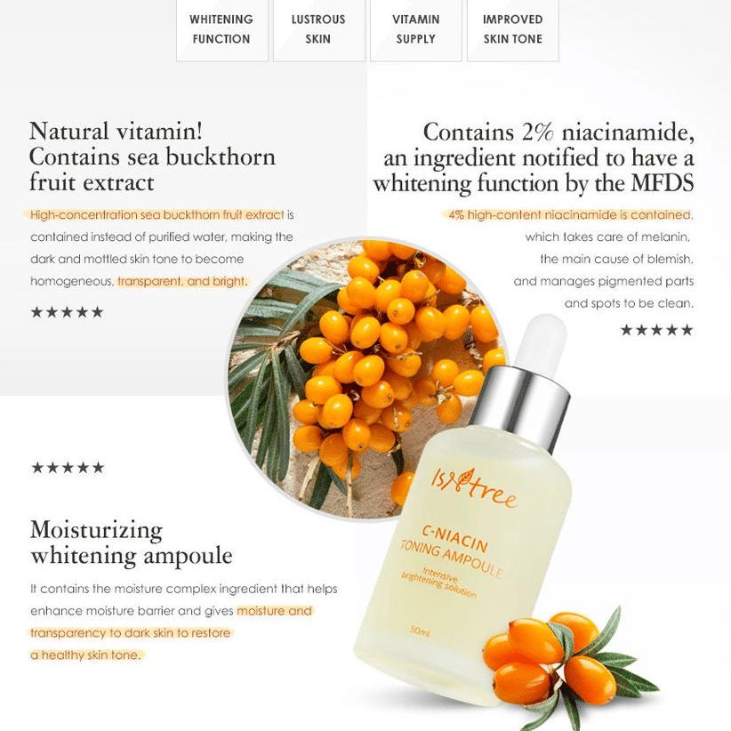 Isntree – C-Niacin Toning Ampoule k beauty