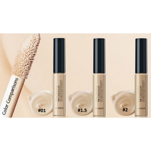 The Saem – Cover Perfection Tip Concealer SPF28 PA++ (#1.5 Natural Beige) k beauty