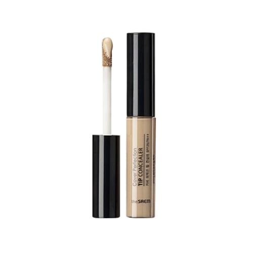 The Saem – Cover Perfection Tip Concealer SPF28 PA++ (#01 Clear Beige) k beauty