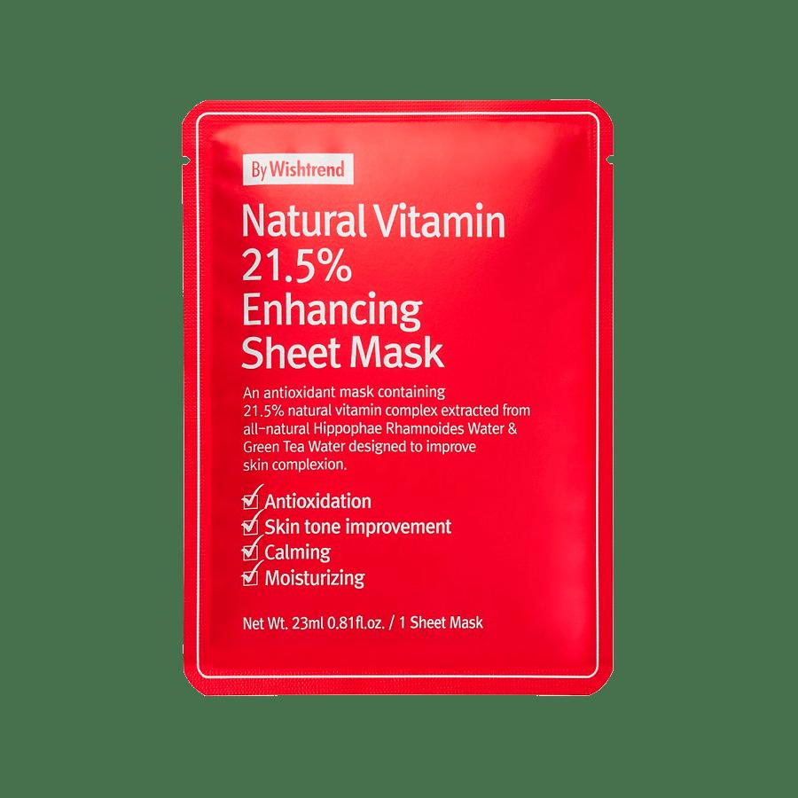 By Wishtrend – Natural Vitamin 21.5 Enhancing Sheet Mask k beauty