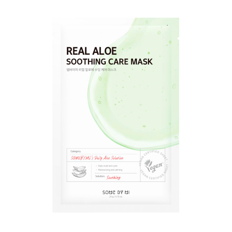 Some By Mi – Real Aloe Soothing Care Mask k beauty