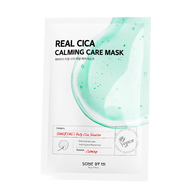 Some By Mi – Real Cica Calming Care Mask k beauty
