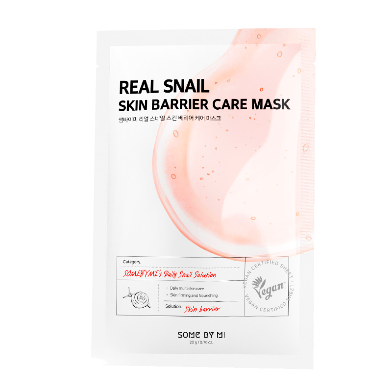 Some By Mi – Real Snail Skin Barrier Care Mask k beauty