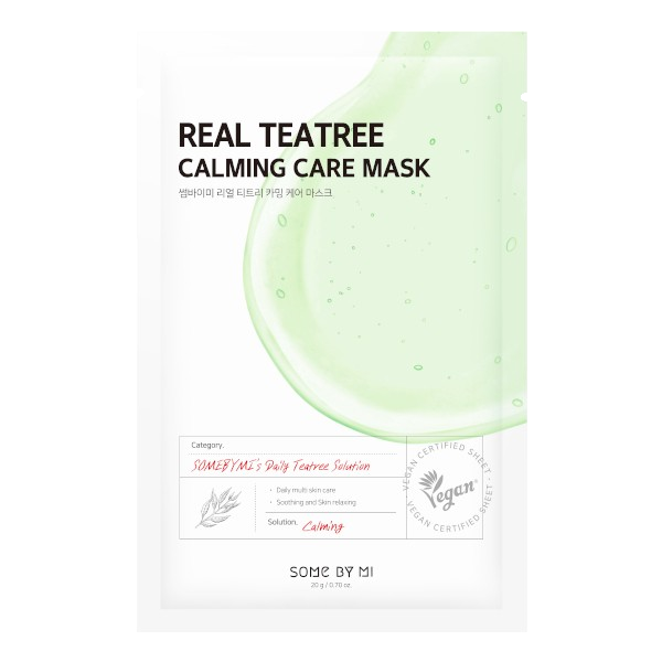 Some By Mi – Real Teatree Calming Care Mask k beauty